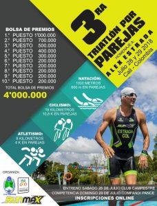 3ra Triatlón por Parejas 2018 @ Club Campestre de Cali - Comfandi Pance